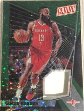 James Harden 5/25 2018 Panini National Gold Pack Patch Green Prizm Refractor