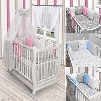 Babybett Juniorbett Kinderbett Weiß Bettset Schublade Matratze Himmel NEU Kissen