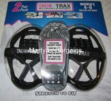 2 Pairs Snow Trax.Ice/Snow Grips for Lady Shoe Size 4-9