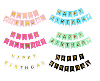 Top quality Happy Birthday Letter Bunting Banner for Birthday party decoration