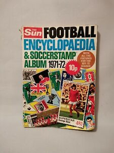 Vintage 70s The Sun Football Encyclopaedia & Soccerstamp Album 1971/72 Missing 1