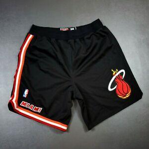 100% Authentic Miami Heat Vintage Nike Shorts Size 36 L Large Mens