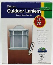 [NEW] MaxLite Collection White Outdoor Lantern Dusk to Dawn Auto-Cell