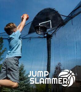 Jump Slammer Trampoline Basketball Hoop | Easy Install | Foam Ball TrampolinePro