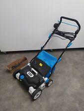 More details for mac allister 1800w corded raker and scarifier (msrp1800) blue gardening
