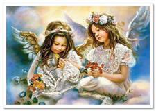 Kids Lovely Cute Girls Angel ART Sandra Kuck Russian modern Postcard