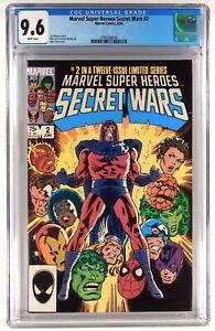 Marvel Super Heroes Secret Wars 2 CGC  9.6 -  Comic Lot 1 Set , Not 9.8