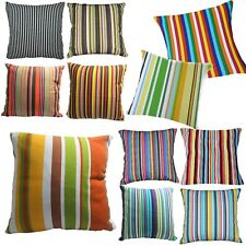 Pillow Cover*Stripe Cotton Canvas Sofa Seat Pad Cushion Case Custom Size*AK2