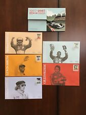 Formula 1 Racing Canada First Day Covers Set of 5 Hamilton Stewart Etc 2017