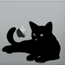 Cat lover gift black sticker vinyl Mac Book/Air/Retina laptop sticker A5 size