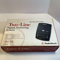 Radio Shack 2 Line Cordless Phone System w/ Digital Answering Machine