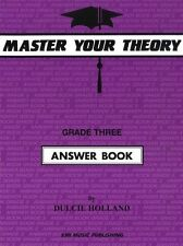 Master Your Theory Grade 3 / Three - ANSWER BOOK (Revised Edition) *BRAND NEW*