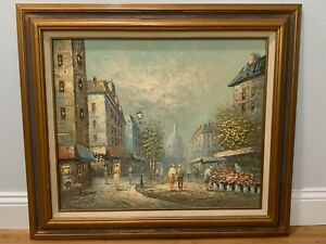 Caroline Burnett Signed Impressionist Oil Painting Montmartre Paris France