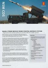 KONGSBERG NSM CDS 2013 ON JELCZ 6x6 CHASSIS MILITARY BROCHURE PROSPEKT