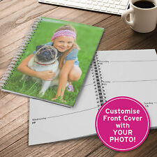 A5 2017 DIARY Spiral PERSONALISED Bound Customise Front Cover with YOUR PHOTO