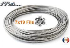 Câble inox A4 Trés Souple 7X19 ( 133 fils )  Ø 3  4  5  6  8 10 mm inox A4