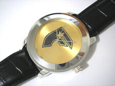 Iced Out Hip Hop Leather Band Famous Stars & Straps Men's Watch Silver Item 3278