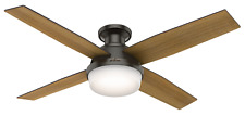 "Hunter 52"" Remote Control Ceiling Fan Dempsey Low Profile Noble Bronze 59447"