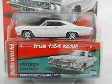 2017 AUTO WORLD 1:64 *PREMIUM HOBBY EX* WHITE 1966 Chevrolet Impala SS *NIP*