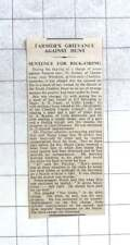 1936 Hamas Grievance Against South Cheshire Hunt, T Ikin, Rick Firing