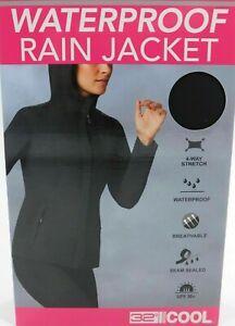 NIB - 32 Degrees Cool - Women's Waterproof Light Weight Rain Jacket, Black, L