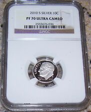 2010 S Silver 10c Roosevet Dime PF70 UC NGC #036