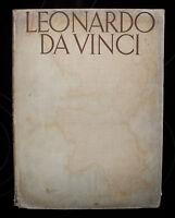 leonardo da vinci, ludwig goldscheider, 1943, vintage book illustrated