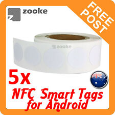 5x NFC NTAG203 Smart Tag Sticker for Samsung, Nexus, Sony - Android Devices