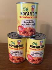 3 Cans Chef Boy-Ar-Dee Boyardee Throwback Spaghetti Meatballs Vintage 04/21