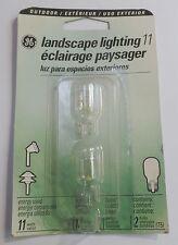 GE T5 (923/BP2) Miniature Wedge 11 watt 12 volt Outdoor Landscape Bulbs & GE Outdoor Lighting | eBay
