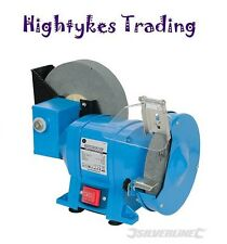 Wet and Dry Bench Whetstone Honing Grinder 250W Silverline grinding machine