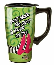 Wizard Of Oz Drop a House on You Travel Mug, Green , New, Free Shipping