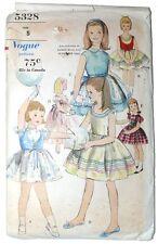 Vintage Vogue Girls Pattern 5328 1963 Party Dress Size 5 Cut