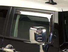 07-14 Toyota FJ Cruiser Chrome Window Visors wind deflectors