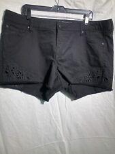 TORRID Womens Stretch  Black Denim Jean Shorts Plus Size 18