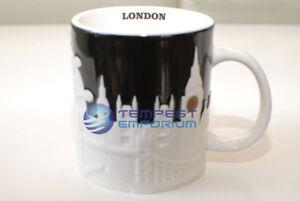 Starbucks London Black & White Collectors Relief Mug  473 ml / 16 fl oz New