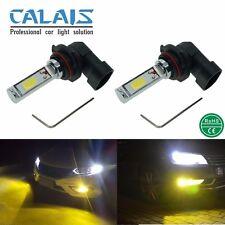 Car Automotive 9005 HB3 COB 24W 12V 24V LED Fog Light Yellow Gold Lamp 2X Bulbs