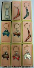 9x Australian Souvenir Sydney Keyring Set - Boomerang Key Ring Bulk Savings