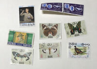 Small Lot of 1900's Dubai Postage Stamps - mixed Mint or Used/Cancelled