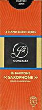 Gonzalez #2.25 Baritone Saxophone Reeds (Box of 5 Reeds) BRAND NEW