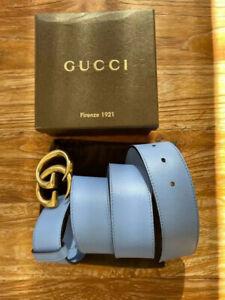 LUXUS Original Gucci Gürtel, Gr. 85-95cm 😍 blau💃 TOP, mit Box, Echtheitszertif