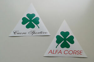 ALFA ROMEO CAR COVER PATCH VINYL UNIQUE NEW PROTOTYPE PAIR CUSTOM QV CLOVERLEAF