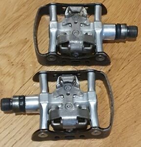 Retro Shimano Pedals MTB Road SPD Platform Cleats Clipless