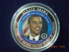 Barak Obama Medaille Farbe mit Zertifikat
