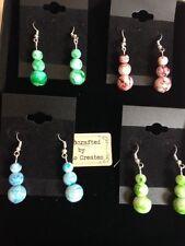 Pendientes verde de Jade, Jade Verde, Blanco, Drawbench, Vidrio, pendientes