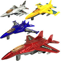 Plastic Military Airplane Fighter Model Kids Pull Back Plane Christmas Gift Toy.