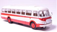 H0 BREKINA Bus JZS Jelcz 043 Stadtbus rot elfenbein Spiegel montiert # 58257
