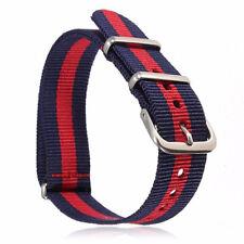 Retro Infantry Military Army Fabric Buckle Nylon Wrist Watch Band Strap 18-22mm