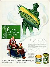 1945 Jolly Green Giant family niblets corn giant peas vintage art Print Ad adL26