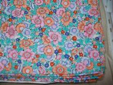 "100% Cotton Fabric Floral Design Fat Quarter 17.25"" x 22"" Pink,Orange,Blue,Green"
